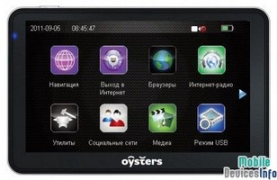 GPS navigator Oysters Chrom 2011 3G